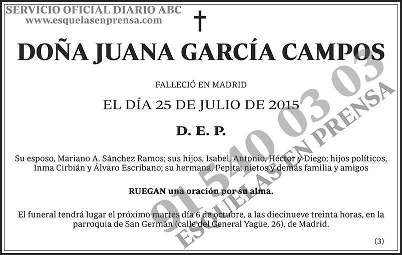 Juana García Campos